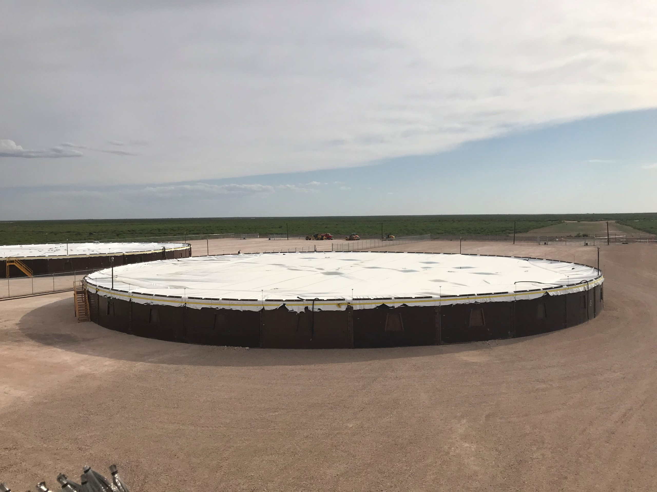 Lightning and Static Protection for Temporary Crude Storage Tanks